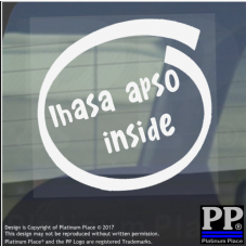 1 x Lhasa Apso Inside-Window,Car,Van,Sticker,Sign,Adhesive,Dog,Pet,On,Board,Lead